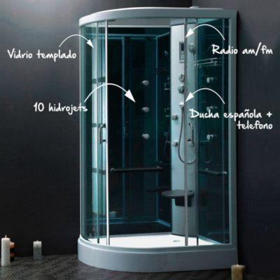 Cabina De Ducha 80x120cm Con Ducha Espa Ola Y 10 Hidrojets