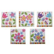 Mosaico multicolor autoadhesivo Flor