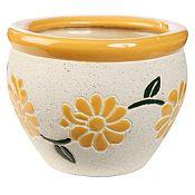 Maceta flores Glass 17 cm amarillo