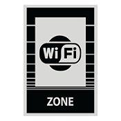 Señal zona wifi 22.5x15 cm