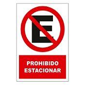 Señal prohibido estacionar 22.5x15 cm