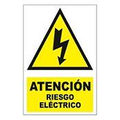 Señal atención riesgo eléctri22.5x15 cm