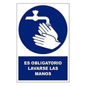 Señal obligatorio lavarse las manos
