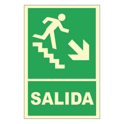 Se al fotoluminiscente escalera abajo for Escaleras sodimac