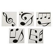 Mosaico autoadhesivo Notas musicales