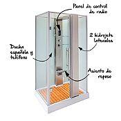 Cabina de ducha española 120x90cm