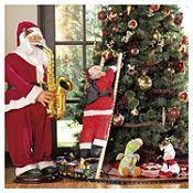 Santa Musical con Saxofón 120cm
