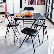 Comedor mesa + 4 sillas negro