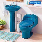 Combo Media Sala de baño Torino Azul