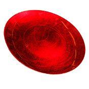 Plato decorativo circular 39.5cm Rojo