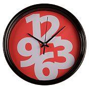 Reloj de pared rojo 25cm