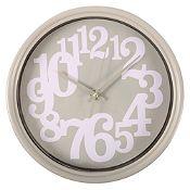 Reloj de pared gris 25 cm
