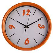 Reloj de pared naranja 25 cm