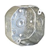 Caja de Paso Octogonal galvanizado 1 1/2