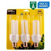 Pack 3 focos 20w E27 luz amarilla