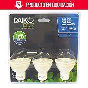 Pack x3 led 4w gu10 lf