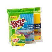 Pack 4 paños+4 absorbentes+2 esponjas