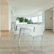 Comedor mesa+ 4 sillas blanco