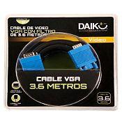 Cable de Video VGA con Filtro 3.6 m