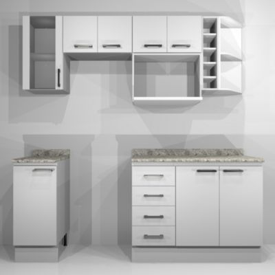 Proyecto Cocina Modular Bianco chico -&nbspSodimac.com.pe