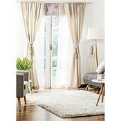 Combo cortina y velo 145x220cm café