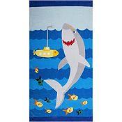 Toalla de playa tiburón 70x140cm