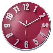Reloj de pared fucsia 30cm