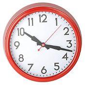 Reloj de pared rojo 38cm