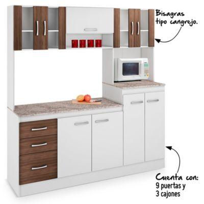 Mueble de cocina sevilla 180cm for Mueble cocina sodimac