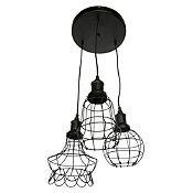 Lámpara colgante Rejas 3 luces