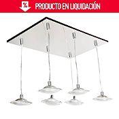 Lámpara de techo Platos 6 luces
