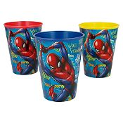 Set de 3 vasos Spiderman