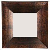 Espejo marrón 40x40 cm