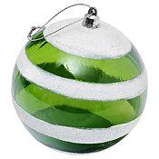 Esfera verde/blanco 10cm