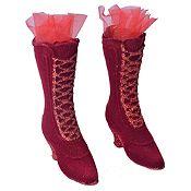 Colgante bota dama rojo 11cm x2