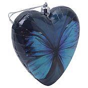 Adorno corazón mariposa 9 cm