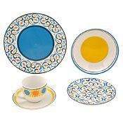 Set de vajilla Étnica color 30 piezas