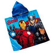 Toalla de niño con poncho The Avengers 60x120cm