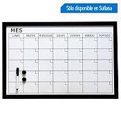 Pizarra acrílica Plan Mensual 60x40 cm