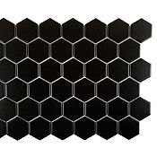 Mosaico decorativo negro 28x32cm