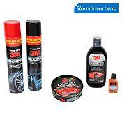 Pack Silicona+ Renovador+ Limpiaparabrisa +Shampoo+ Cera