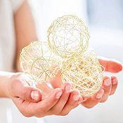 Set 12 esferas doradas 5cm