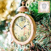 Set x 2 relojes madera 10cm