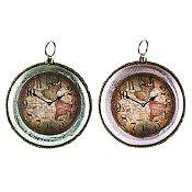 Set 2 relojes retro surtido 11 cm