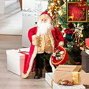 Muñeco Santa con bolsa de regalos Holy Night 48.5cm