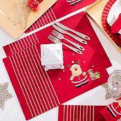 Individual navideño rojo 33x45cm