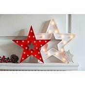 Estrella blanca Led 15 luces
