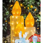 Velas triple Led 3D 96 luces