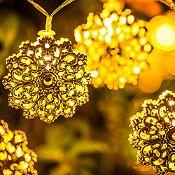 Juego de 20 luces Led Rosas doradas a pilas