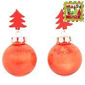 Set x 2 esferas Noel 6cm